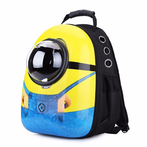 Minions Style Breathable Space Capsule for Pets