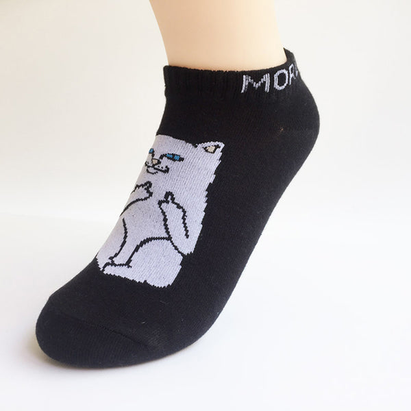 MTD Middle Finger Cat Ankle Socks