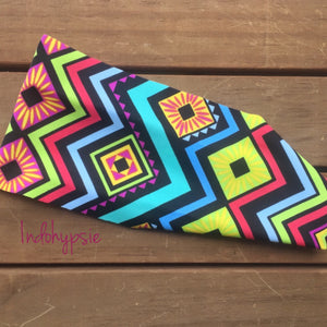 Colorful Tribal Headband. This headband has a multiple bright colors which is a must have. Zig Zag Headband.
