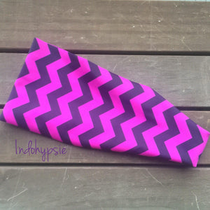 Cheshire Cat Hippie Headband. It is a purple Zig zag headband