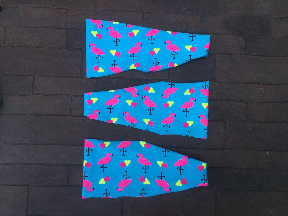 Flamingos & Hearts Headband