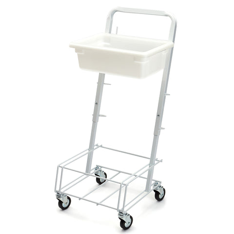 4-caster powder coated cart with tray
