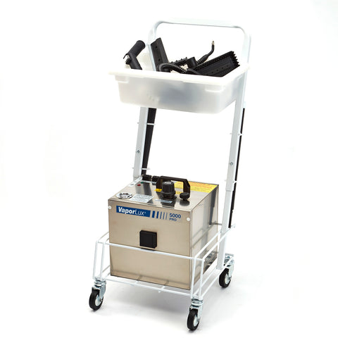 VaporLux 5000 PRO STEAM vapor steam cleaner with cart