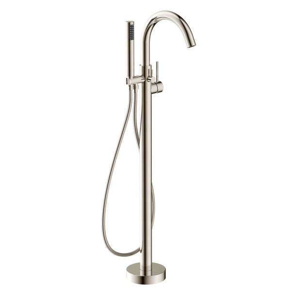 Kros Series 2 Handle Freestanding Claw Foot Tub Faucet With Hand
