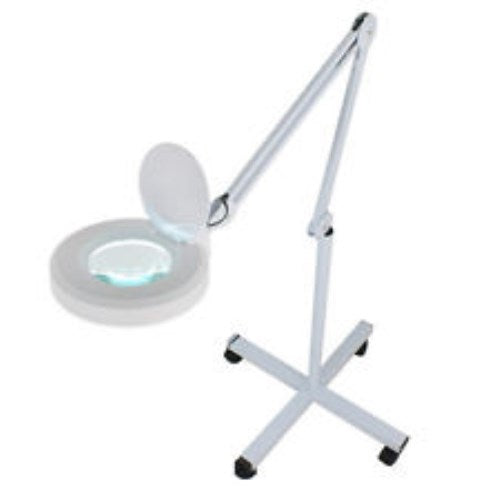Magnification Floor Lamp Stand Magnifier Glass With Rolling Stand