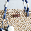 Seagrass Basket Beach Bag With 2-tone Pom Poms - Bridesmaid Gift