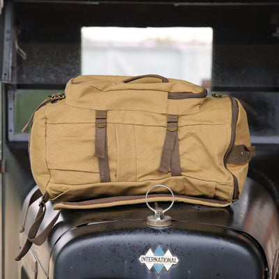 Military Service Duffel Backpack Travel Bag- Personalized Groomsmen Gift