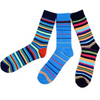Men's Fun Novelty Socks Large Striped (3 Pairs)- GROOMSMEN GIFT