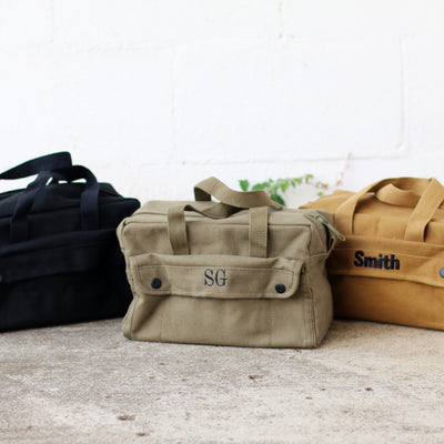 Military Style Mechanic's Canvas Tool Bag – Personalized Groomsmen Gift