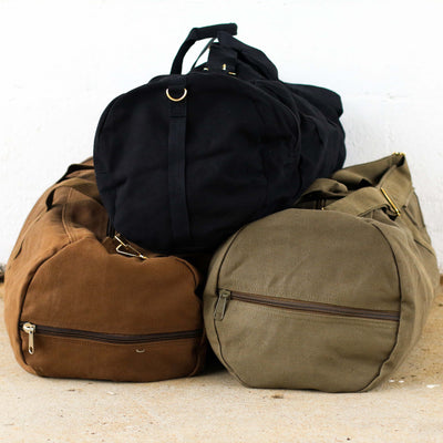 Vintage Military Duffel Travel Bag – Personalized Groomsmen Gift