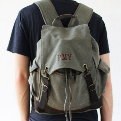 Military Issue Ruck Sack Travel Bag – Personalized Groomsmen Gift