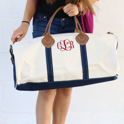 Personalized Women's Round Travel Duffel Bag - Bridesmaid Gift