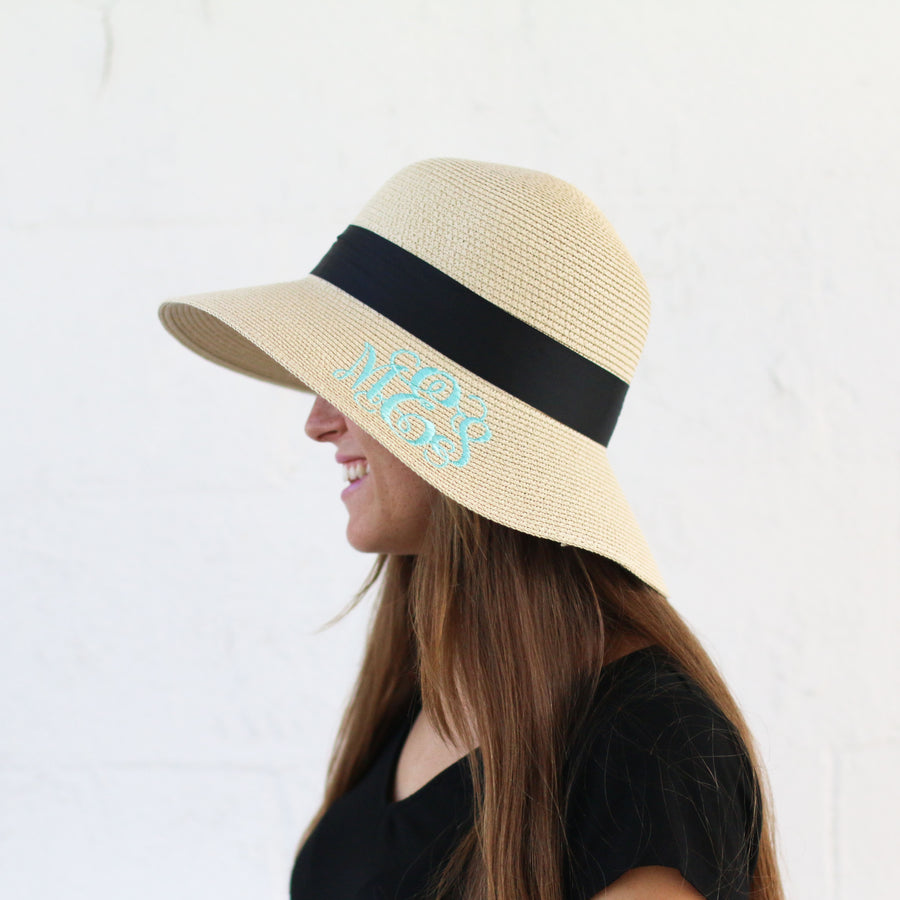 Women's Floppy Sun Hat with Ribbon Bow-knot - Bridesmaid Gift