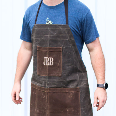 Personalized Waxed Canvas Two-Toned Utility Apron - Groomsmen Gift