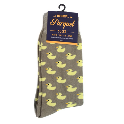 Men's Ducklings Novelty Socks - GROOMSMEN GIFT