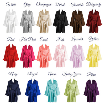Personalized Satin Robe – Bridesmaid Bridal Party Gifts
