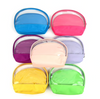 Personalized Clear & Solid Color Makeup Cosmetic Bag 2 piece Set