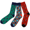 Men's Fun Novelty Socks Cats and Circles  (3 Pairs) - GROOMSMEN GIFT