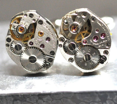 Steampunk Watch Movement Cufflinks Pair Cufflink