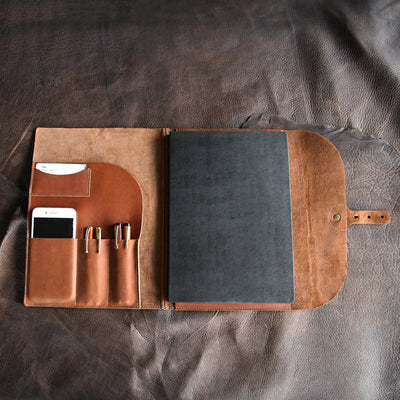 The Artisan Personalized Fine Leather A4 Moleskine Journal, Diary, Hard Cover Notebook, Sketchbook - Gifts for Her, Gifts for Mom