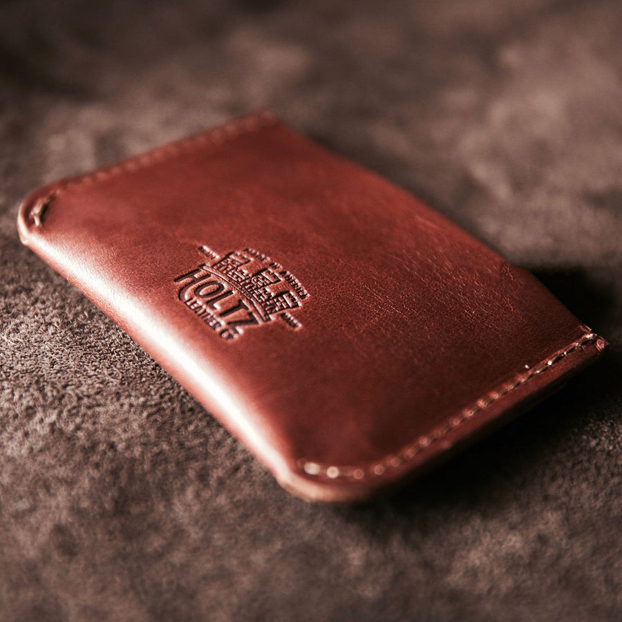 Personalized Groomsmen Double Sleeve Leather Front Pocket - The Bradford