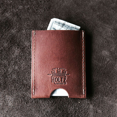 Personalized Groomsmen Gift - The Jefferson Fine Leather Card Holder Wallet - Wedding Party Gift - Gifts for Him, Gifts for Grads