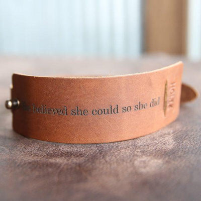 Personalized Bridesmaid Gift - Fine Leather Cuff Bracelet wrap, Womens bracelet, Maid of Honor Gift, Gifts for Mom, Gifts for Grads