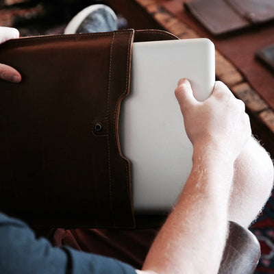 "Personalized Fine Leather Sleeve Case for Apple Macbook 12"" & Macbook Air 11"" - Gifts for Him - Gifts For Her, Gift for Mom, Gifts for Grads"