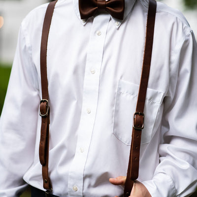Groomsmen Gift, Leather Bow Tie, Gift for Groom - The Mr. Baker