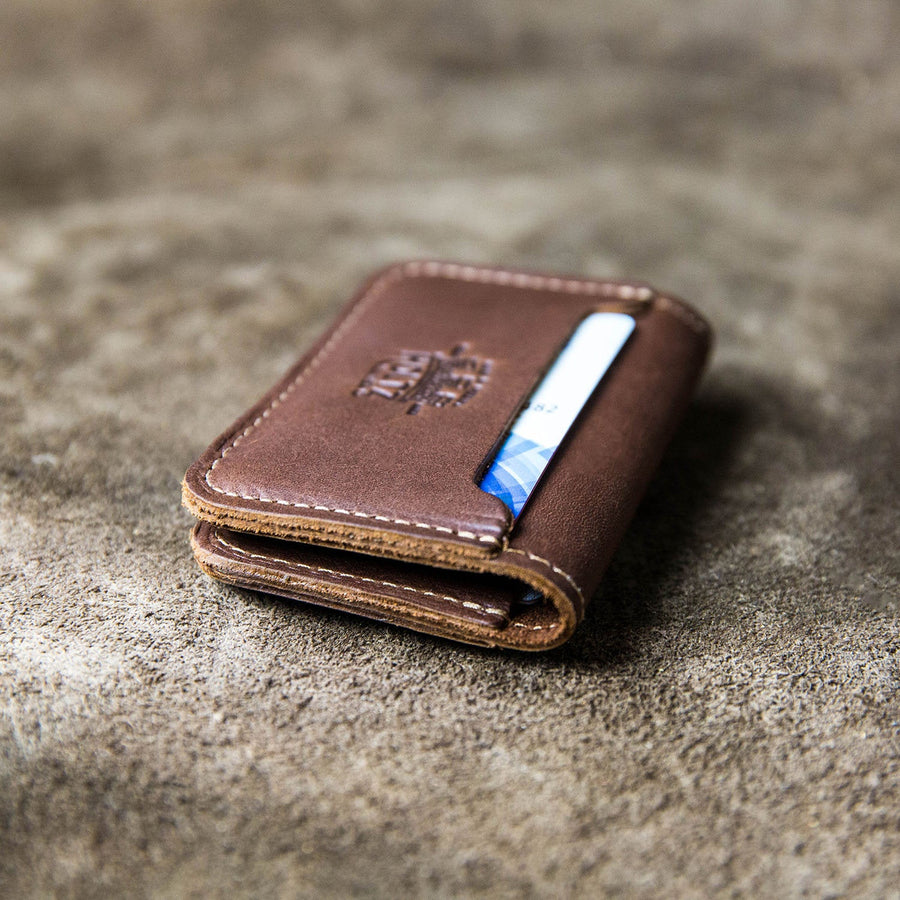 Personalized Wallet, Groomsmen Money Clip, Leather Wallet - The Gates