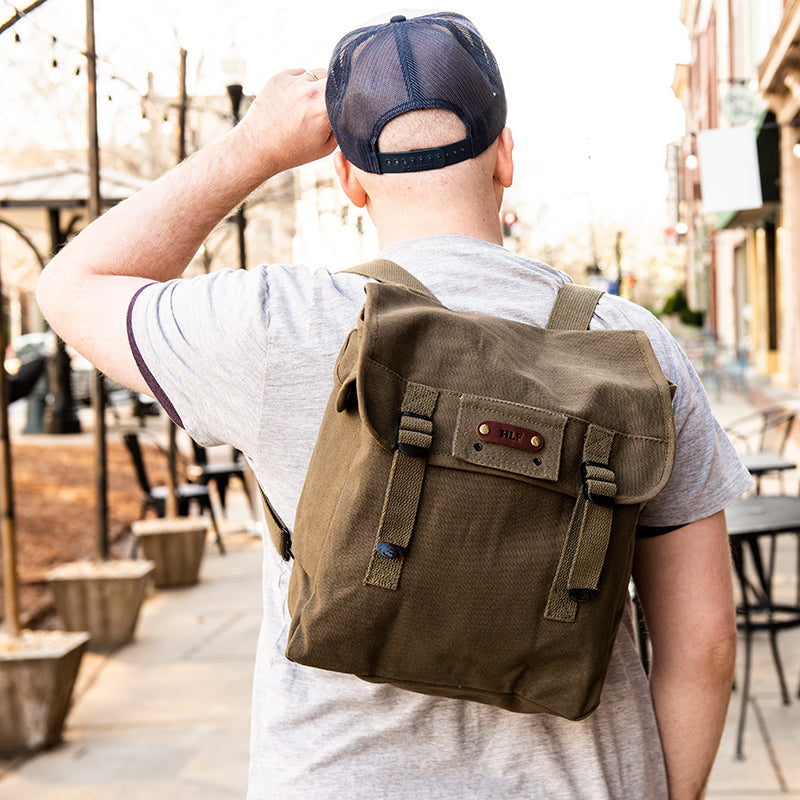 Military Musette Bag Canvas Daypack - Groomsmen Gift
