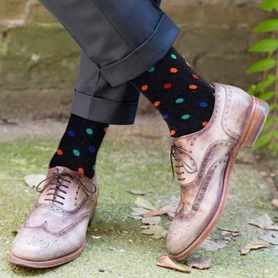 Men's Fun Novelty Socks Polka Dots (3 Pairs) - GROOMSMEN GIFT