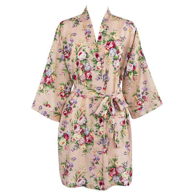 The Victoria – Personalized Vintage Cotton Muslin Floral Robe – Bridesmaids Bridal Part Gifts