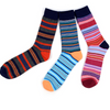 Men's Fun Novelty Socks Small Stripes (3 Pairs) - GROOMSMEN GIFT