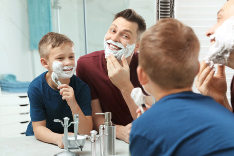 Teach kids to shave