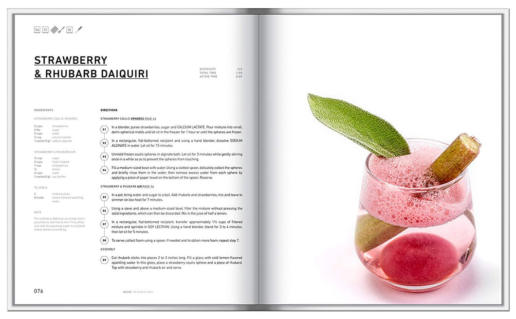 Molecular 50 Course Meal Gastronomy Book