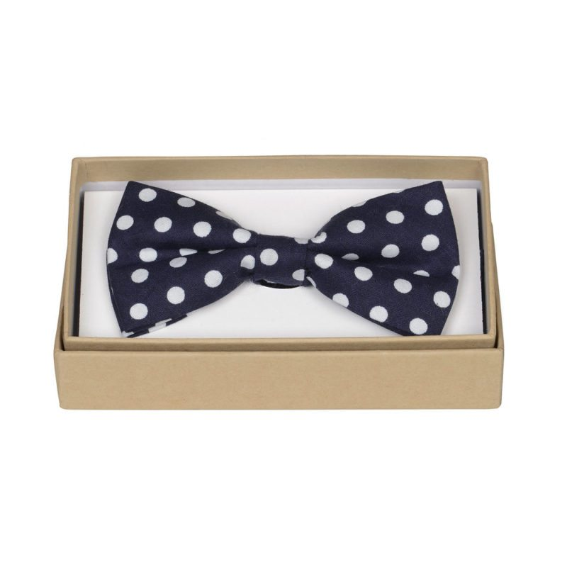 ORTC Man - Navy/White Polka Spotty Bow Tie