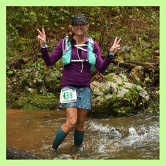 Michelle Z at Way Too Cool 50k 2019