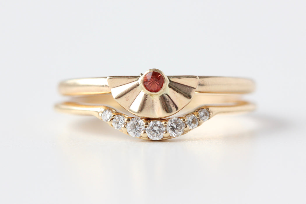 Sunset Ring with Oregon Sunstone
