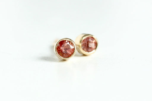 Oregon Sunstone 14k Gold Studs