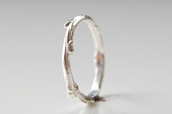 Twig Ring - Recycled Sterling Silver Twig 2