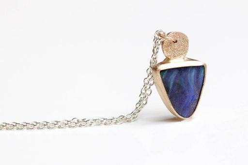Boulder Opal Necklace with Pave Bail