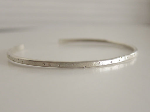 Recycled Sterling Silver Cuff Bracelet - Shimmer Finish