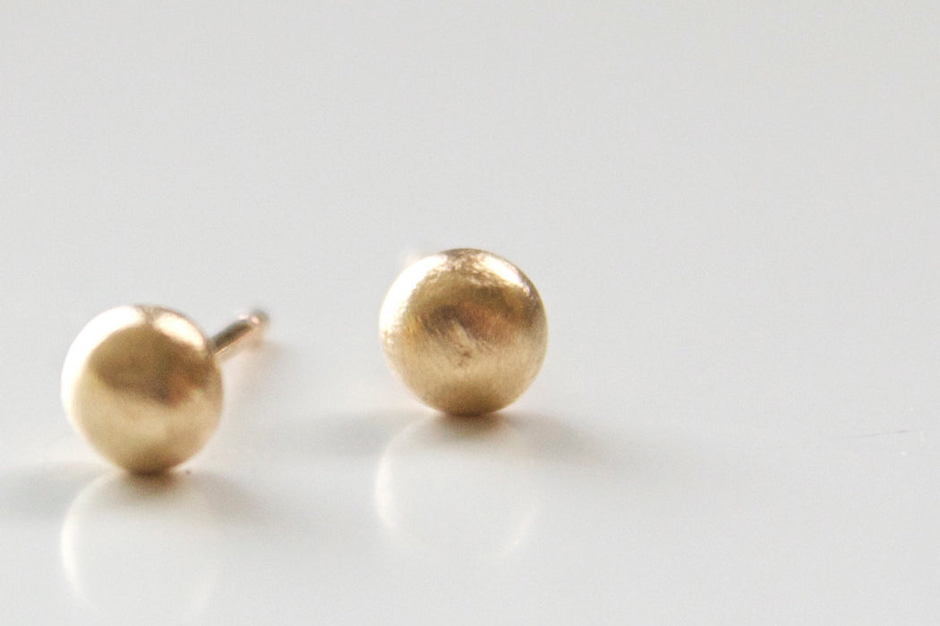 Recycled 14k Gold Post Earrings