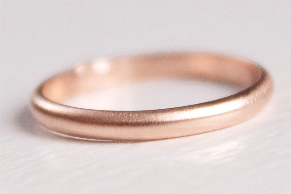 14k Recycled Gold Band 2mmx1mm