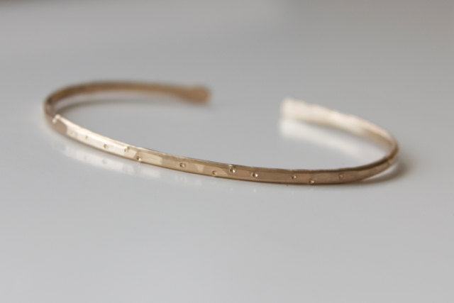 Gold Cuff Stacking Bracelet in Shimmer Finish