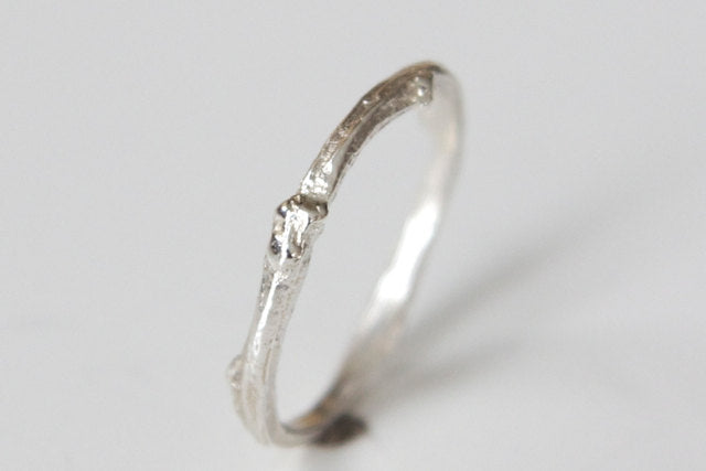 Twig Ring - Recycled Sterling Silver Twig 1
