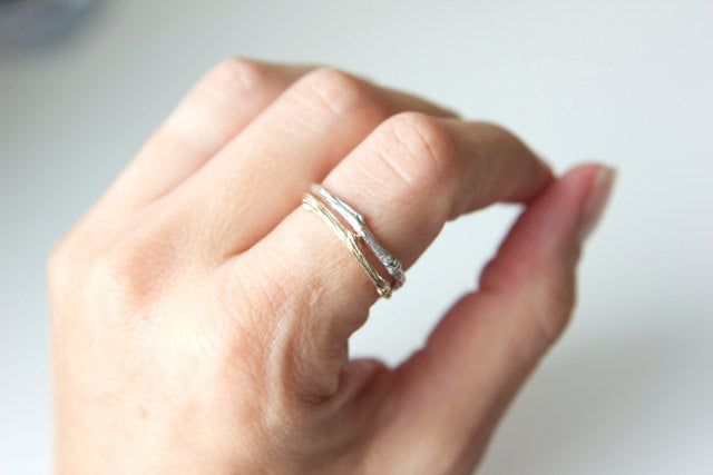 Twig Ring in 14k Recycled Gold - Twig 1