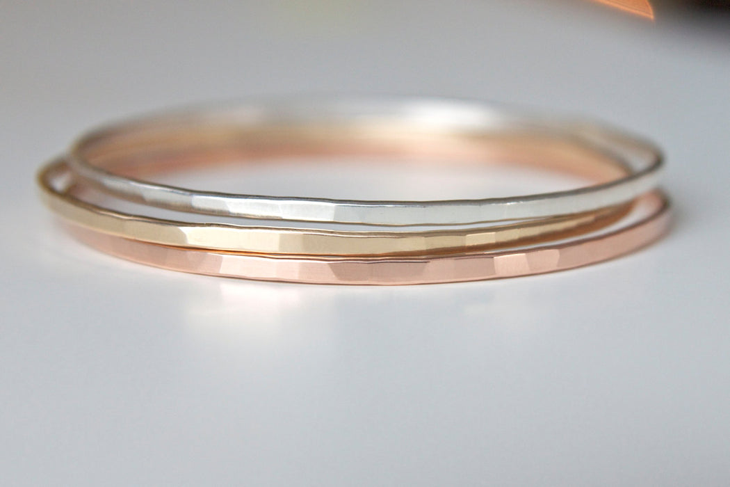 Stacking Bangles in Mixed Metals