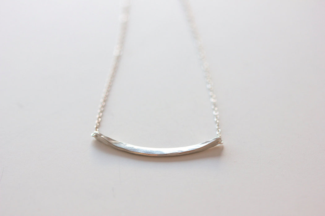 Crescent Necklace in Sterling Silver